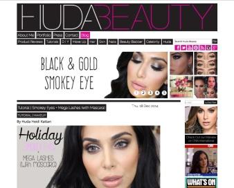 HudaBeauty Blog Homepage